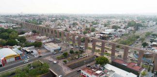 Vista aérea Los Arcos de Querétaro