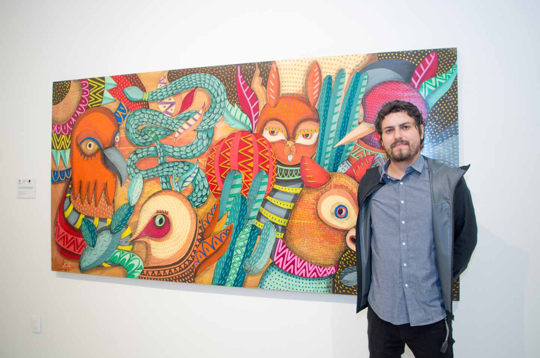 Roco, Artista plástico en el Centro de Arte Bernardo Quintana