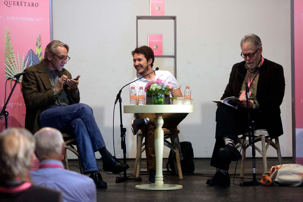 Hay Festival Querétaro 2017 David Huerta y Alejandro Ruy con Alejandro del Castillo