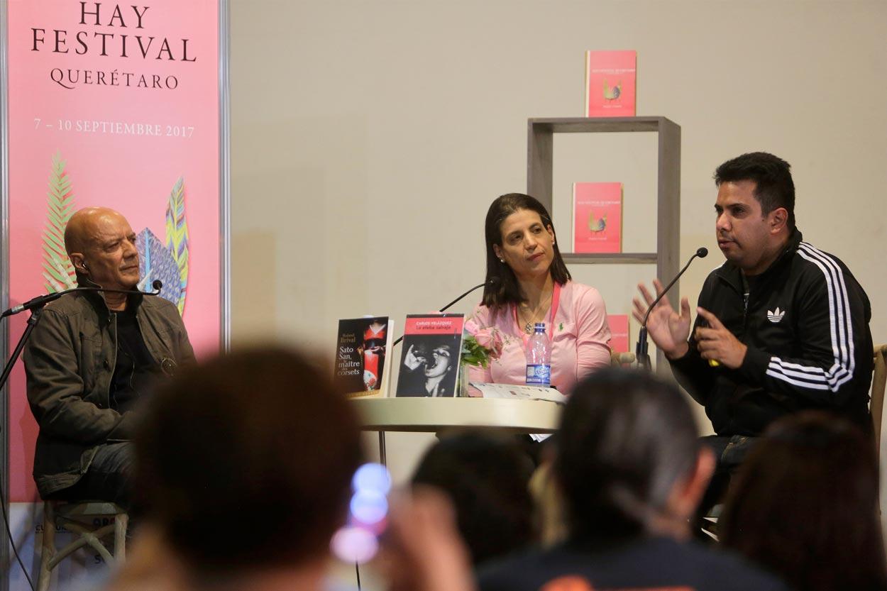 Hay Festival Querétaro conversación con Carlos Velazquez