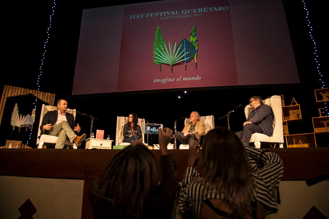 Jon Lee, Lydia Cahco y Mark Thompson Hay Festival Querétaro 2017