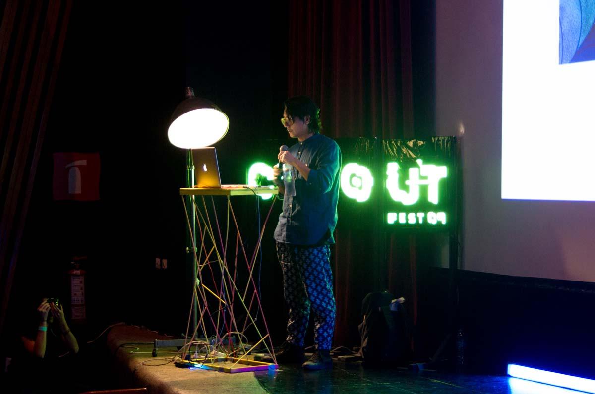 Saiman Chow en conferencia para CutOut Fest